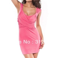 summer free shippping 2013 new arriveshort evening dress  pink party dresses long cocktail dresses good quality drop shipping