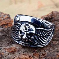 Free Shipping! 3pcs Skull Biker Stainless Steel Men's Ring MER01-05