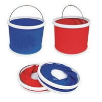 11l folding bucket car wash tool car bucket 11 outdoor bucket auto supplies glove bucket
