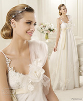 Elegant high waist aesthetic maternity wedding dress spaghetti strap wedding dress bride yarn new arrival 2013