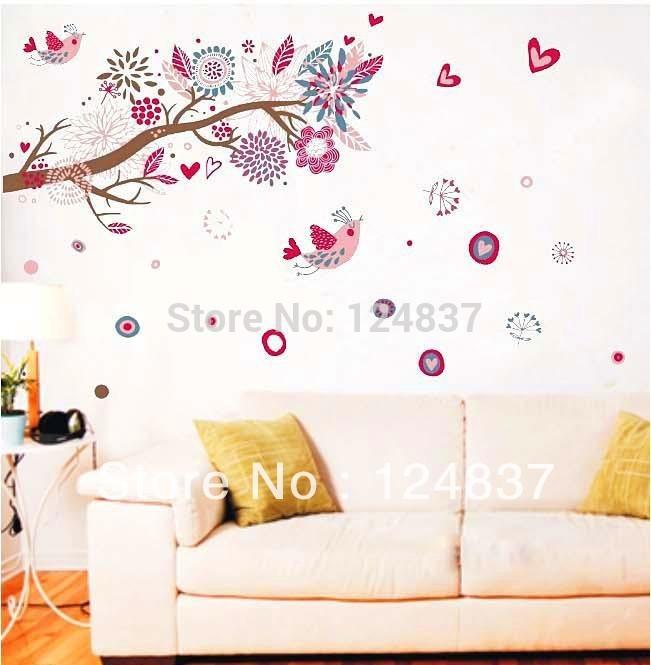 60cm 90cm bloemen muur stickers sticker verwijderbare sticker voor kinderen slaapkamers huis - Schilderij slaapkamer meisje ...