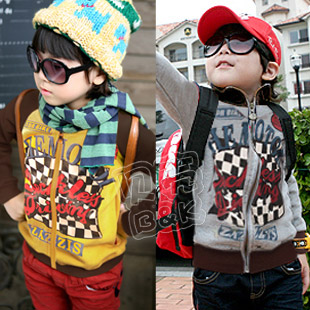 Free shipping 2013 spring automobile race print paragraph boys clothing baby fleece outerwear wt-0892 Wholesale and retail(China (Mainland))