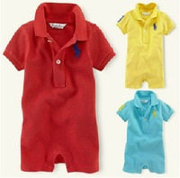Summer, POLO lapel short sleeve , one-pieces baby clothing, 100% cotton ,children clothing, drop shipping
