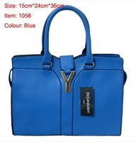 free shipping 2013 new famous brand women's shoulder bag ladies pu leather Y word tote handbag fashion hobo blue wholesale