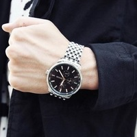 Men's big dial black watches quartz Sinobi brand sinobi watch lady women free shipping
