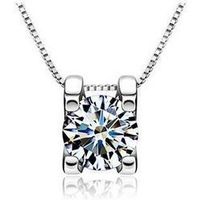 Free shipping New arrival super shiny zircon & 925 sterling silver & platinum plated female pendants jewelry wholesale