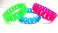 DHL free shipping 500PCS/lot personalized silicone bracelets for event  ,19MM width, for girls and boys