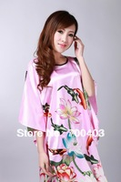 Free shipping NEW Fashion Chinese Women's Gown Silk Clothing Dress & Robe & Gown Costume pajamas #S0104-B