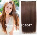Free Shipping Synthetic hair weave Light Brown Straight Fashion Synthetic Hair Extension Machine Hair Weaving Hair Weft 22&quot;