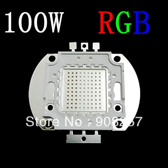 free shipping 100W High Power RGB LED 100Watt Red Green Glue bead Lamp Super Bright Chip Light(China (Mainland))