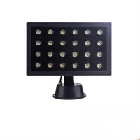 24W LED Square head round base Projection Landscape Flood spot advertising stage outdoor light DC12Vor24V  AC85-265V IP65 2160LM