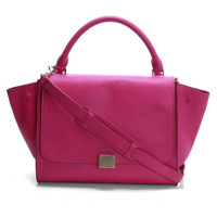 Wholesale Bendell Ladies Original Calf Leather Trapeze Bags 3342 Rosy Free Shipping