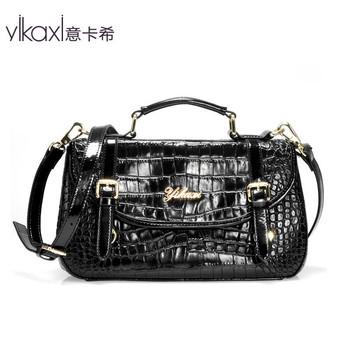 Italian Cashin Ms. handbag shoulder bag fashion handbag Messenger bag crocodile pattern leather bag for women