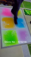 Free shipping, Liquid motion floor, Kids candy liquid floor tiles 40cmx40cmx5.5mm