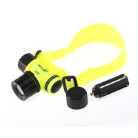 LED Light Underwater Diving Yellow Shallow light Waterproof Flashlight Torch Headlight