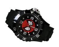 Spiderman Super Hero Marvel Fashion Boy Man Black Silicone Watch Wrist GZ