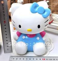 Blue Dressed Hello Kitty Cat Doll Piggy Bank Money Pot 1PCS