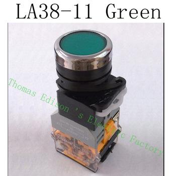 la38 11203  la38-11/203 green High quality  automatic reset   push button switch arcade FREE SHIPPING