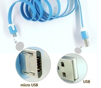Free Shipping+For SAMSUNG  HTC SONY micro usb noodles multicolour data cable charge line transmission line
