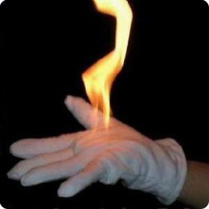 High quality gloves fire four hands version available in January one hundred times fire magic props products Free shipping