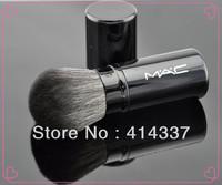 Retractable Bulk Paint Foundation Blush Brush fashionable soft makeup BLACK NEW