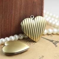 29*7mm vintage heart locket charms pendants, lockets antique, fashion floating charm locket bulk lot