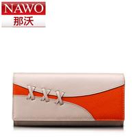 Wallet all-match long design women's color block wallet knitted wallet
