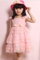 chiffon dresses for girls child  kid's summer tulle dress female child dress princess short-sleeve  dress