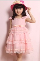 chiffon dresses for girls child  kid's summer tulle dress female child dress princess short-sleeve  dress