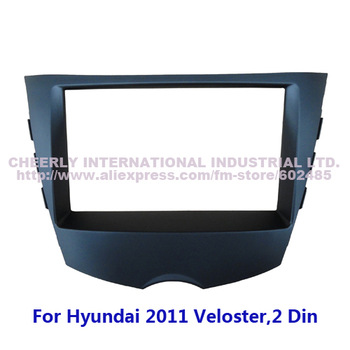 2 Din Special Car DVD Frame, Refiting Radio Kits, Audio Frame,Fascia Adapter, Dash Kit for Hyundai 2011 Veloster Double Din