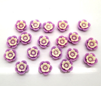 100Pcs Purple Rose Flower Embellishment Flatback Cabochon Scrapbook Fit Phone Diy 14mm
