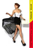 Women's Cotton+Chiffon Dress With Sweetheart and Irregular Hem Design