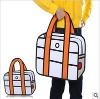 5pcs/lots Fashion design Taiwan secondary yuan 3D cartoon bags shoulder bag cartoon handbags tote bags 1021