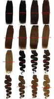 "Free Shipping 26"" Body Wave Virgin Remy Human Hair Weft Human Hair Extensions 100g/pcs 9 Color To Choose"
