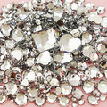 Clear Mixed Size/Shape Flat Back Rhinestone 1100PCS 3D Acrylic Flatback Rhinestones DIY Phone case Nail art design deco supplies(China (Mainland))