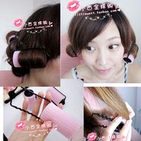 Lucky sponge hair curlers kinkiness hair style tools jumbo roll pear