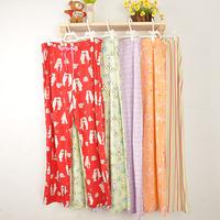 2013 spring new arrival derlook Women cotton trousers pajama plus size trousers