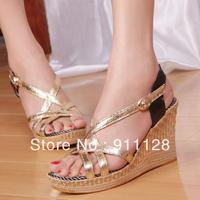2013 sandals platform fashion open toe wedges women's gladiator sandals