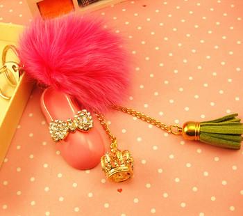 Women's bags buckle car keychain christmas plush ball  shoes tassel  shiba puppy chevrolet cruze rappel rings tritium