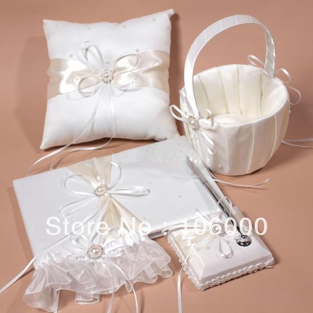 Wedding Accessories Wedding Set Guestbook Pen Set Ring Pillow Flower