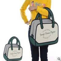 5pcs/lots Fashion design Taiwan secondary yuan 3D shoulder bags cartoon handbags tote bags 1422
