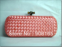 Handmade Japanese silk pink woven bag.fashion lady dress evening handbags,fashion bag free shipping