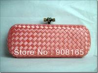 Handmade Japanese silk pink woven bag.fashion lady dress evening handbags,fashion bag free shipping