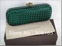 high-quality handmade Japanese silk dark green woven bag.fashion lady evening bags,fashion party handbag free shipping