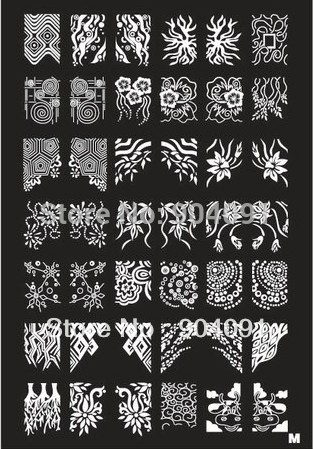 Retail A-Z Series XL Medium Size Stamp Stamping Image Konad Plate Print Nail Art Large BIG Template DIY(China (Mainland))