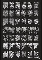 Retail  A-Z Series XL Medium Size  Stamp Stamping Image Konad Plate Print Nail Art Large BIG Template DIY
