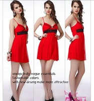 Latest summer new fashion quality women chiffon short sexy dress V neck club overalls lady lace mini dress free shipping 8811
