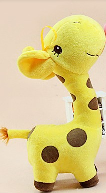 free shipping 2014 new classic dolls stuffed toys cute soft variety of colors spot giraffe doll plush toys for baby c766 ok(China (Mainland))