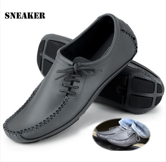 28CM Foot is ok!2014 New Fashion Casual Leather driving shoes,everyday, business men's shoes,SizeUS7/7.5/8/8.5//9.5/10,RD799(China (Mainland))