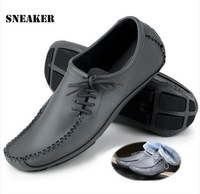 28CM Foot is ok!2014 New Fashion Casual Leather driving shoes,everyday, business men's shoes,SizeUS7/7.5/8/8.5//9.5/10,RD799